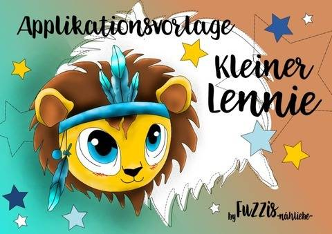 "Applikationsvorlage Löwe ""Lennie"" inkl. Gewerbe-Mini-Lizenz"