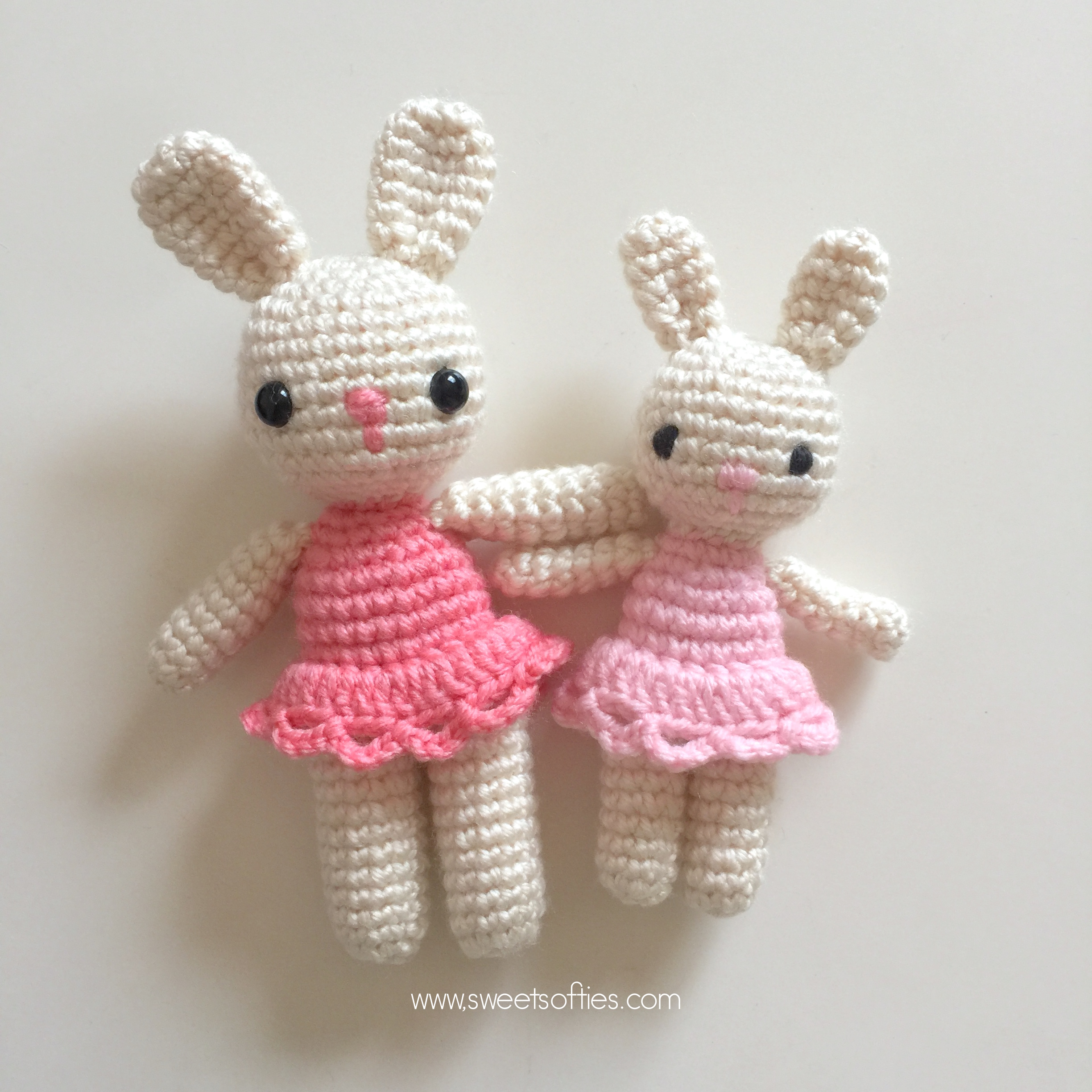 Bunnies in Dresses - Amigurumi Crochet Rabbit Doll Gifts for Sisters