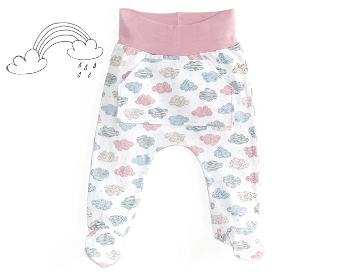 Baby footed pants sewing pattern PDF at Makerist - Image 1