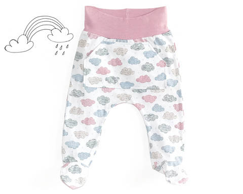 Baby footed pants sewing pattern PDF