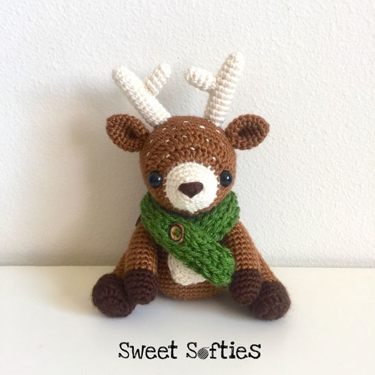 Dawson the Deer, Woodland Stuffed Animal Waldorf Doll at Makerist - Image 1