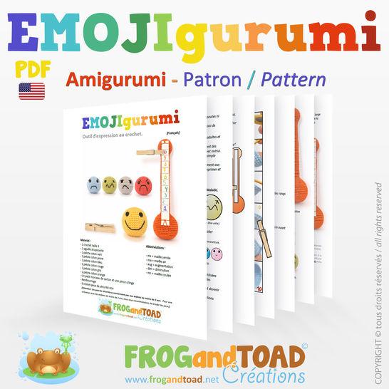 EMOJIgurumi - Crochet Expression Emotions tool - Amigurumi Crochet Pattern - American terminology at Makerist - Image 1