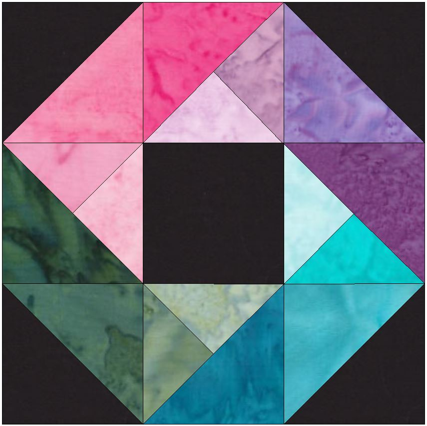 10 Inch HC Rainbow Ring Paper Piecing Foundation Quilting Pattern