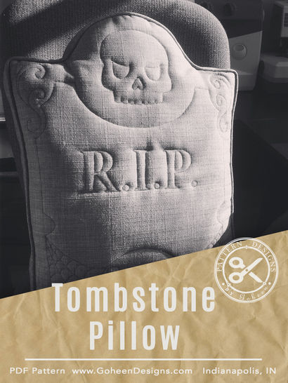 R.I.P. Tombstone Pillow - Halloween Sewing Pattern and Instructions at Makerist - Image 1