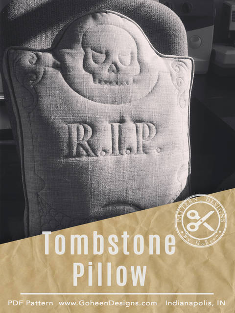 R.I.P. Tombstone Pillow - Halloween Sewing Pattern and Instructions at Makerist