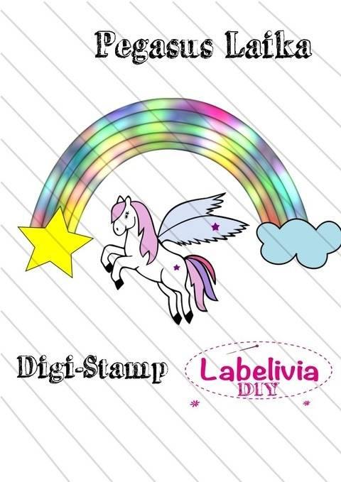 Digi-Stamp Pegasus Laika