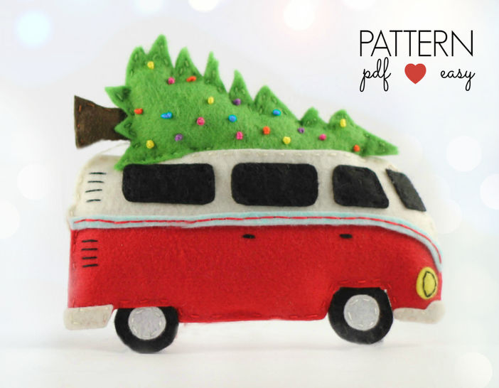 VW Bus Camper Christmas Ornament Pattern at Makerist - Image 1