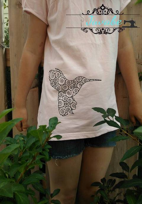 Plotterdatei Spiralen Kolibri bei Makerist