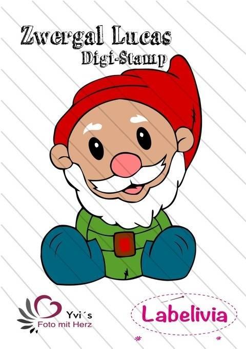 Digi-Stamp Zwergal Lucas und Weihnachtszwergal bei Makerist