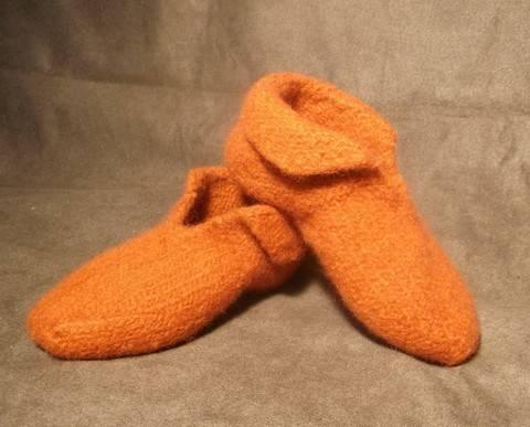 Felt Slippers knitting pattern