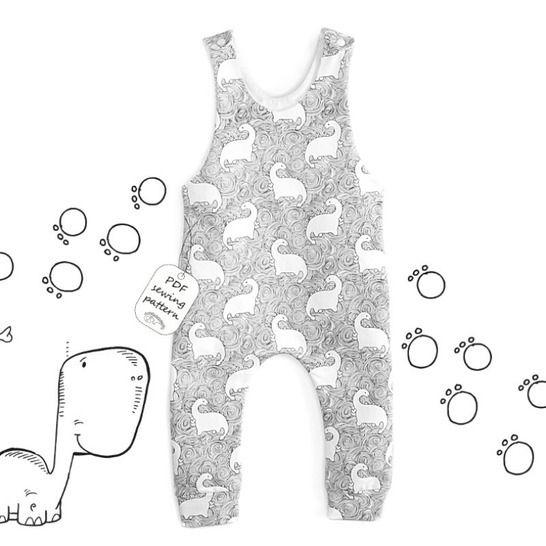Easy romper sewing pattern PDF at Makerist - Image 1