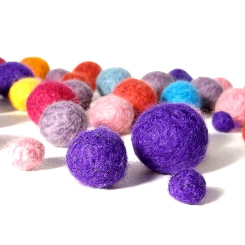 knitted Felt Beads