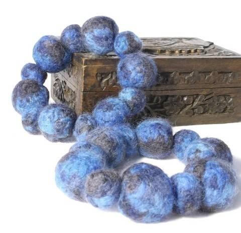 Knit and Felt Bead Bangles