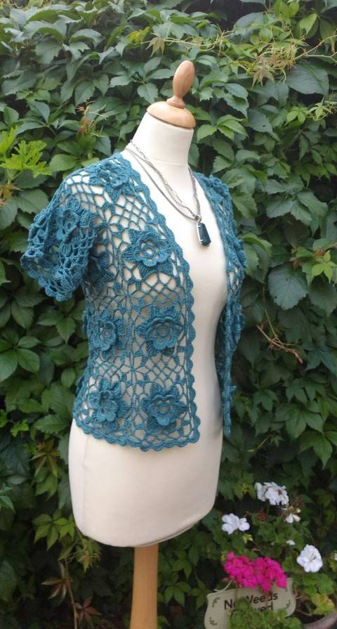 Flower Power Crochet Bolero Pattern