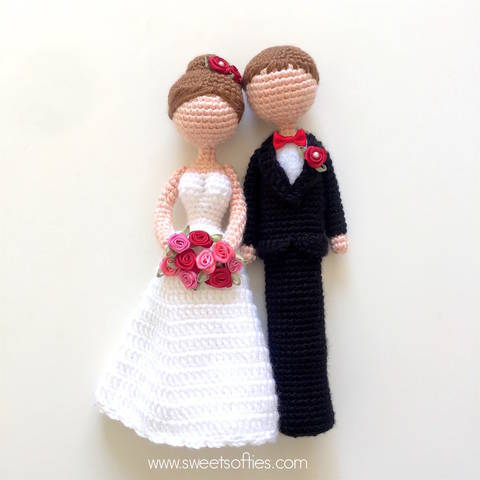 Loving Bride & Groom - Amigurumi Male Female Wedding Dolls