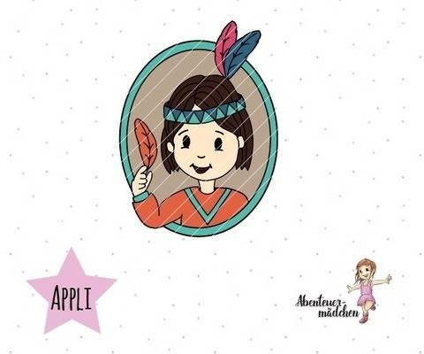 Moki - der kleiner Indianerjunge Porträt Applikation