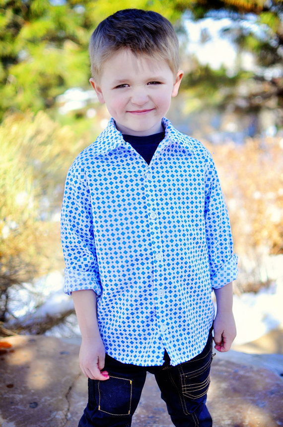 Sis Boom Pattern Co Ethan Boy's Button-Up Shirt