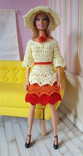 Annette - tenue au crochet - poupée Barbie chez Makerist - Image 1