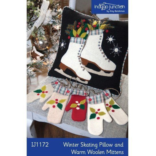 Winter Skating Pillow & Warm Woolen Mittens PDF Pattern at Makerist - Image 1