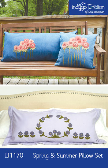 Spring & Summer Pillow Set PDF Pattern — Wool Applique Pattern at Makerist - Image 1