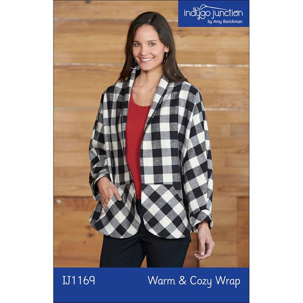 Warm & Cozy Wrap Digital PDF Sewing Pattern - easy sewing or serging instructions fits SM - 3X