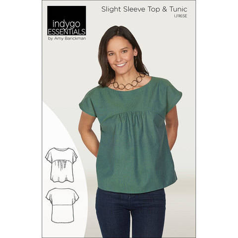 Indygo Essentials: Slight Sleeve Top & Tunic Digital PDF Sewing Pattern - perfect for a capsule wardrobe Size SM - 3X at Makerist