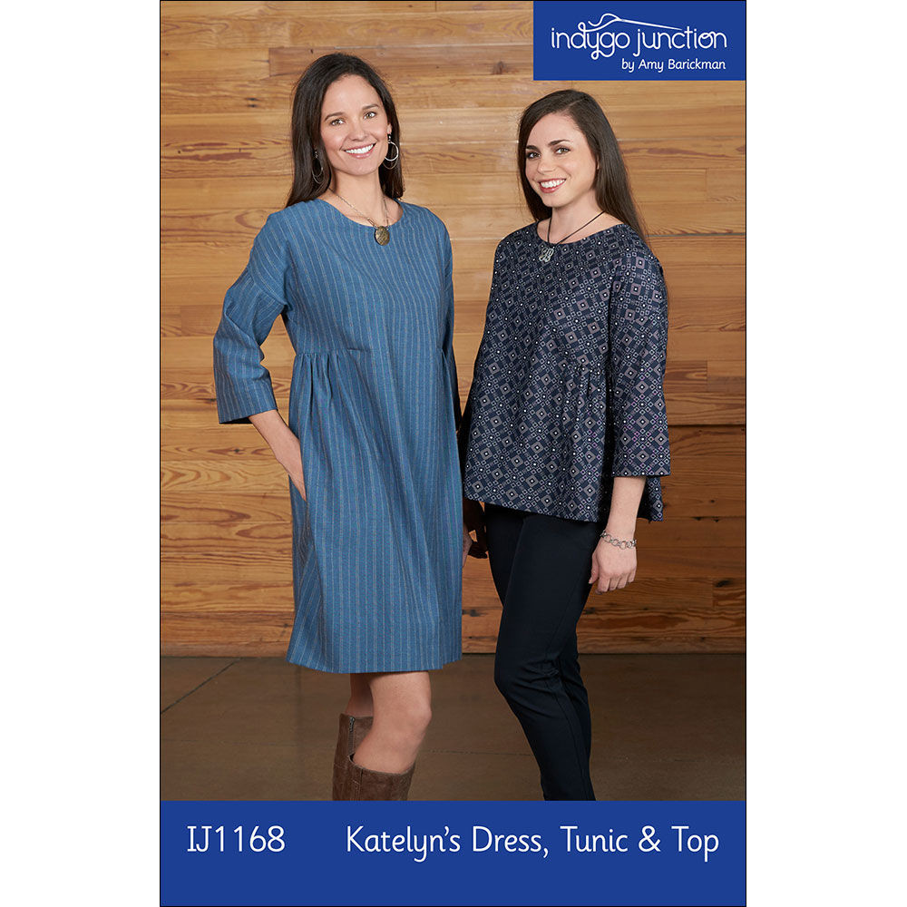 Katelyn's Dress, Tunic & Top Digital PDF Sewing Pattern - three lengths in one, with optional hidden pocket, fits XS - 3X