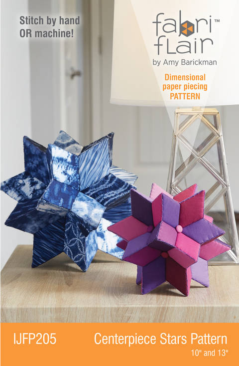 Fabriflair™ Centerpiece Stars Digital PDF Pattern - dimensional paper piecing project instructions at Makerist
