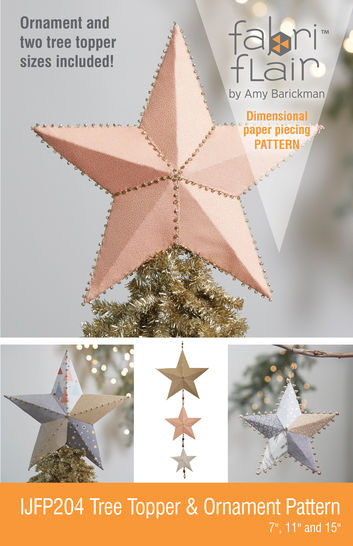 Fabriflair™ Tree Topper & Ornament Digital PDF Pattern — dimensional paper piecing project instructions at Makerist - Image 1
