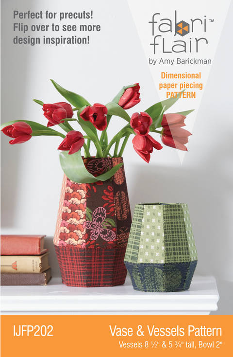 Fabriflair™ Vase & Vessels Fabriflair Digital PDF Pattern — dimensional paper piecing project instructions at Makerist