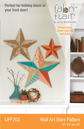 Fabriflair™ Wall Art Star Digital PDF Pattern — dimensional paper piecing project instructions and pattern at Makerist - Image 1