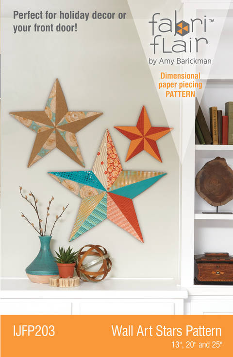 Fabriflair™ Wall Art Star Digital PDF Pattern — dimensional paper piecing project instructions and pattern at Makerist