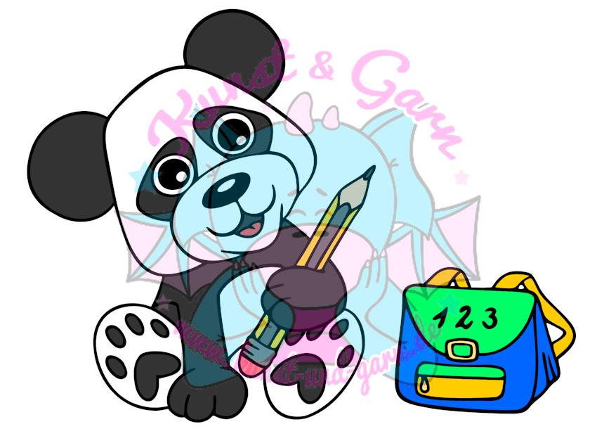 Plotterdatei Kiga Panda Junge