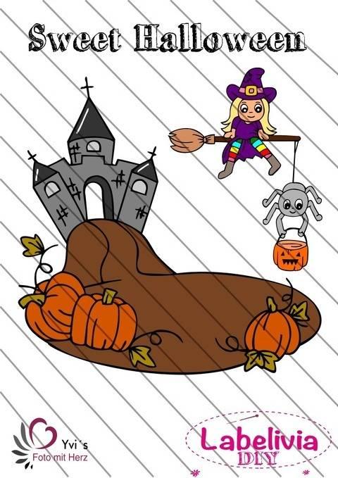 Digi-Stamp Happy sweet Halloween  bei Makerist