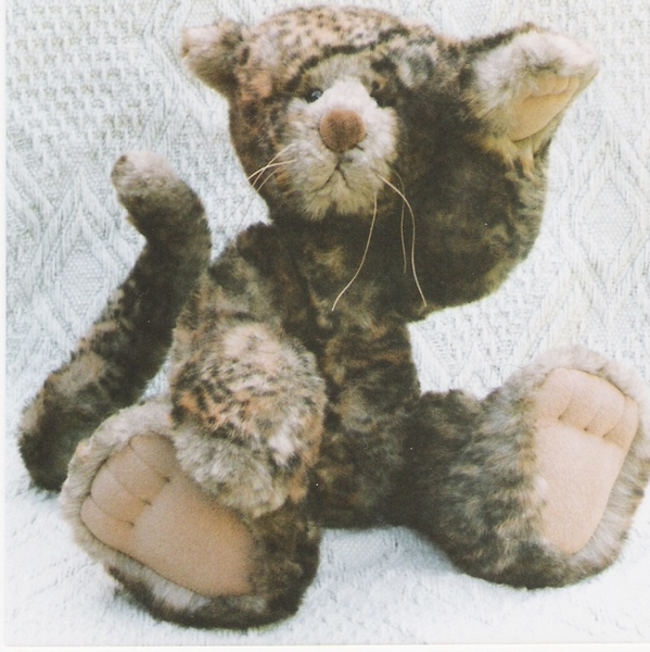 """Cat pattern and Illustrated Instructions for Tyger, an 18"""" jointed Cat"""