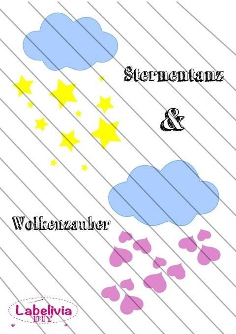Digi-Stamp Sternentanz und Wolkenzauber