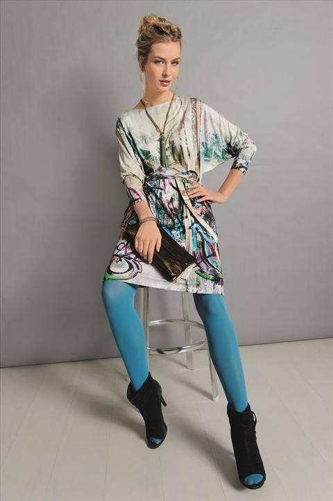 Jerseykleid mit Fledermausärmeln