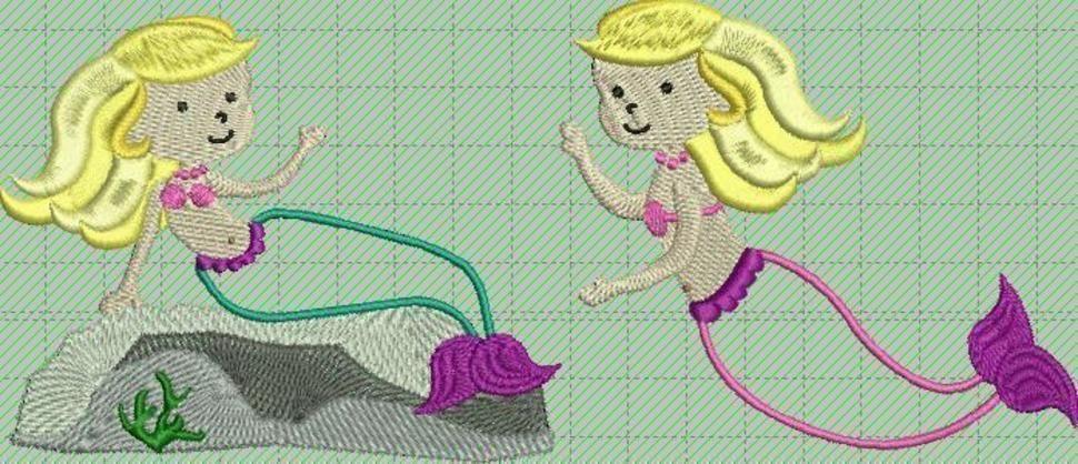 """Meerjungfrau """"Anni"""" Applikation, gewerbliche Nutzung bei Makerist - Bild 1"""