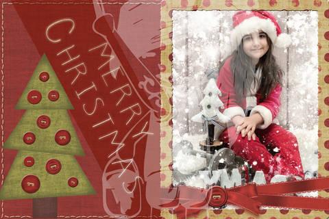 "Grusskarte  Yela`s Kreativ Atelier "" Christmas Vintage RED "" PSD"