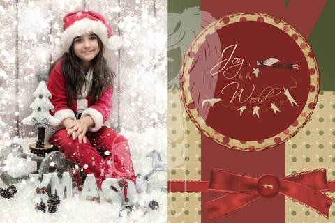 "Grusskarte  Yela`s Kreativ Atelier "" Christmas Vintage RED4 "" PSD"