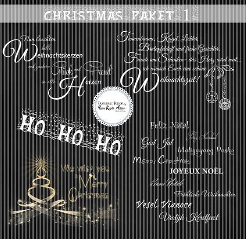 "Wordarts-Paket Yela`s Kreativ Atelier "" Christmas "" PNG"
