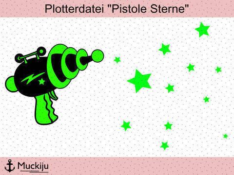 "Plotterdatei ""Pistole"" Sterne"