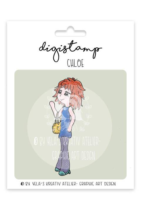 "Digistamp Yela`s Kreativ Atelier "" Chloe "" PNG"