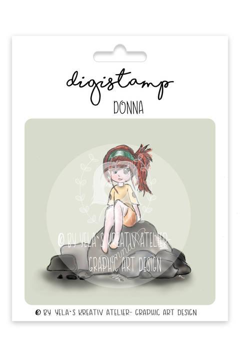 "Digistamp Yela`s Kreativ Atelier "" Donna "" PNG"