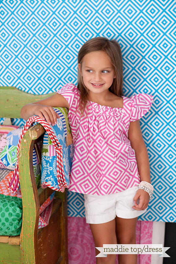 Sis Boom Pattern CO Maddie Dress or Top Pattern for Girls