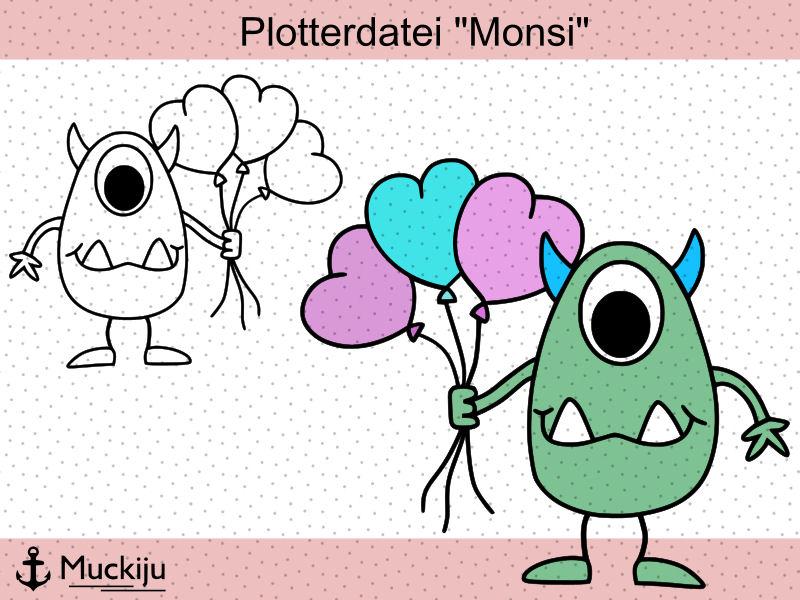 "Plotterdatei ""Monster Monsi"""