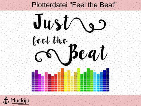 """Plotterdatei """"Feel the Beat"""" bei Makerist"""