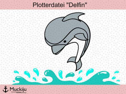 """Plotterdatei """"Delfin"""""""