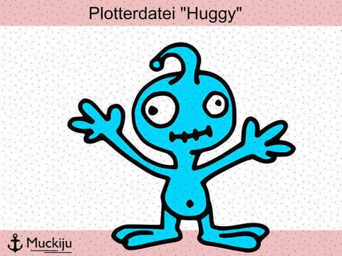 """Plotterdatei """"Huggy"""" Kuschelmonster"""