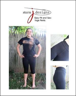 Easy Fit and Sew Yoga Pants - detailed sewing and pattern